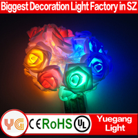 Romantic design 2M 20Led warm white battery operated rose flower decorative fairy party wedding christmas valentine's day light