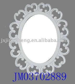 round wooden carved wall hanging mirror frame