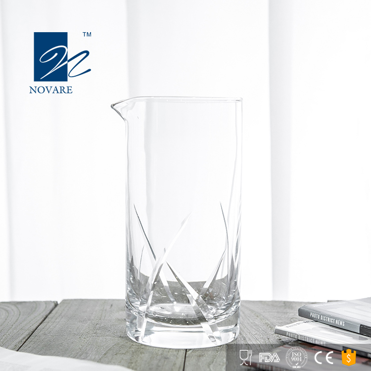700ml Lead Free Crystal Hand Cut Seamless Glass Barware Mixing Glass