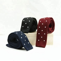 Fashion Custom Skinny Mens Knitted Tie 100% Polyester Knitted Necktie