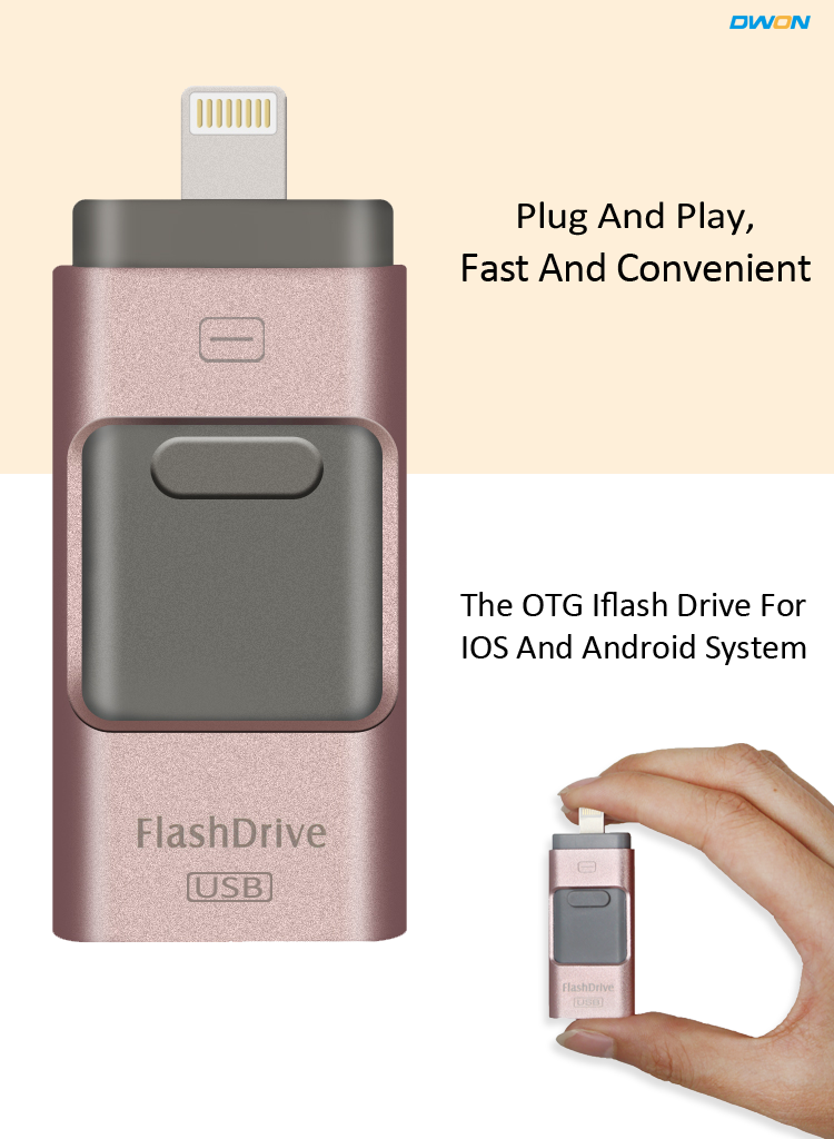 2017 real capacity for Android ios for gift good quality flash drive