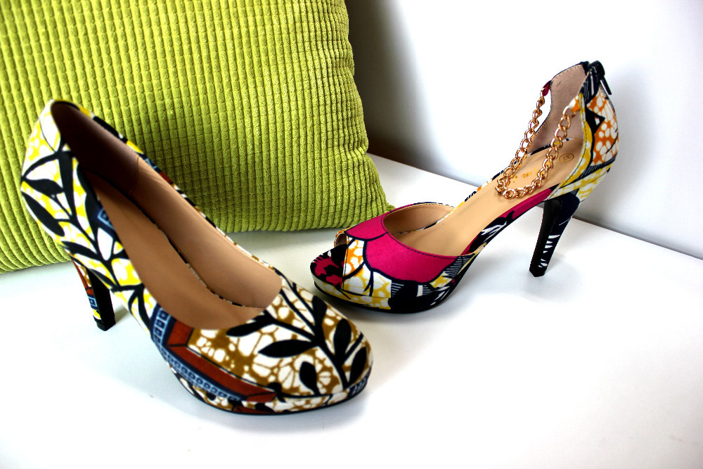 Print Wholesale Print Shoes African Shoes African African Shoes Wax 6qaCqtw
