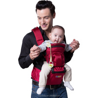 2016 new style oxford hip seat baby carrier with wind cap