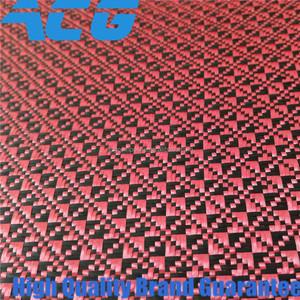 Jacquard Carbon Fiber cloth 3K Red carbon Fabric