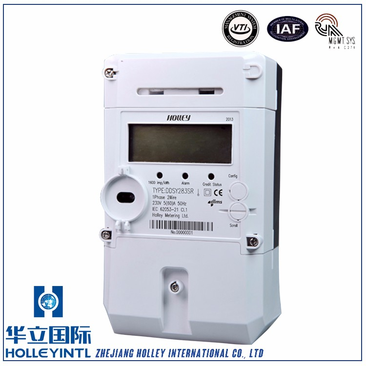 Large-Character Lcd Information Auto-Scrolling Display Prepayment Electric Energy Meter