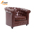 Cheap antique faux leather tub chair