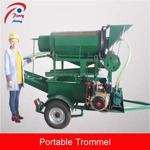 Small Scale Gold Mining Equipment, Small Gold Washing Machine, Mini Gold Trommel for Sale