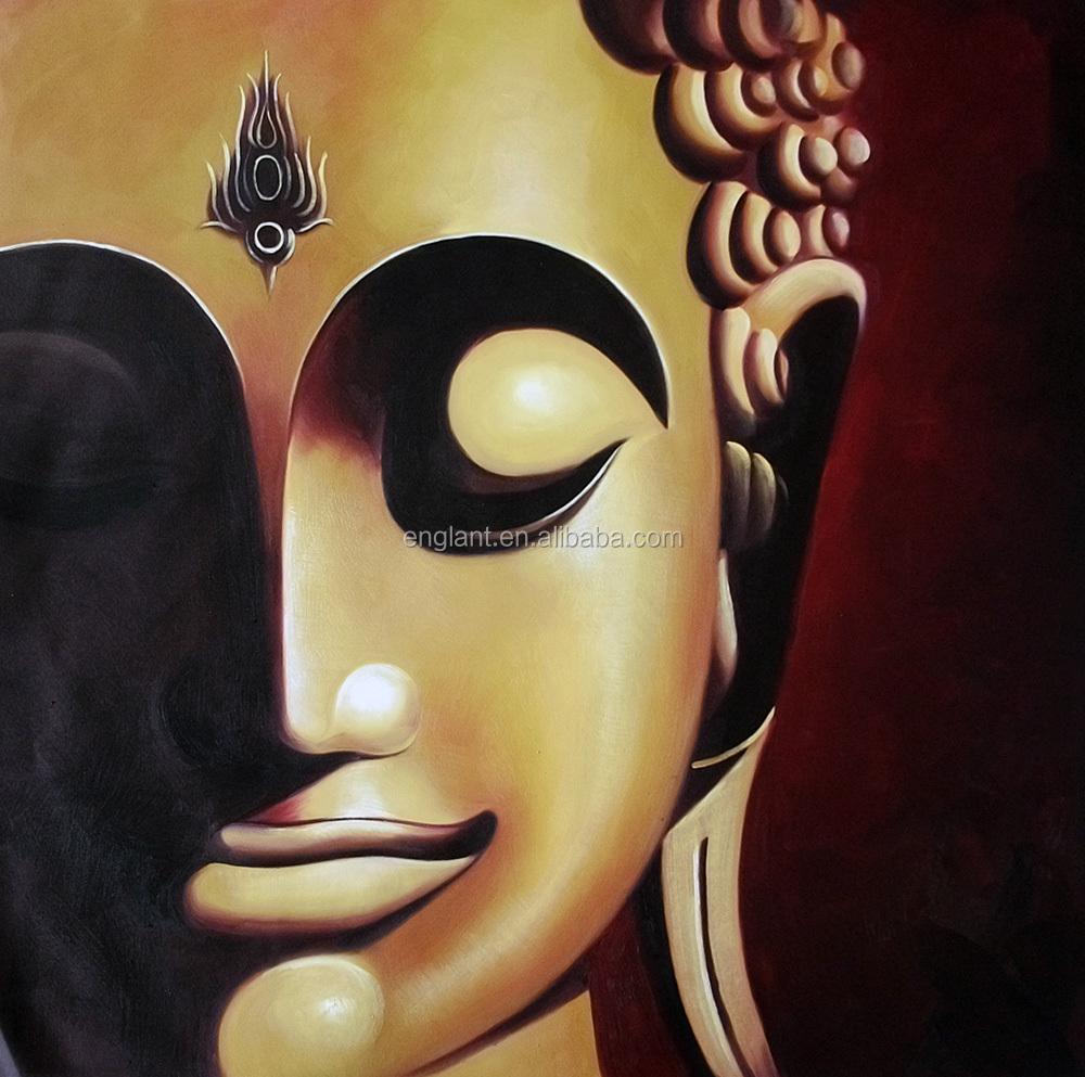 Wall Decor Religion Buddha Face Painting Modern