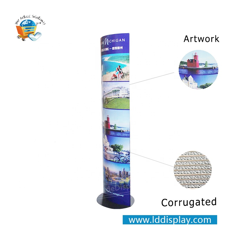 Foldable Paper Totem Eye-catching Paper Display for Advertising