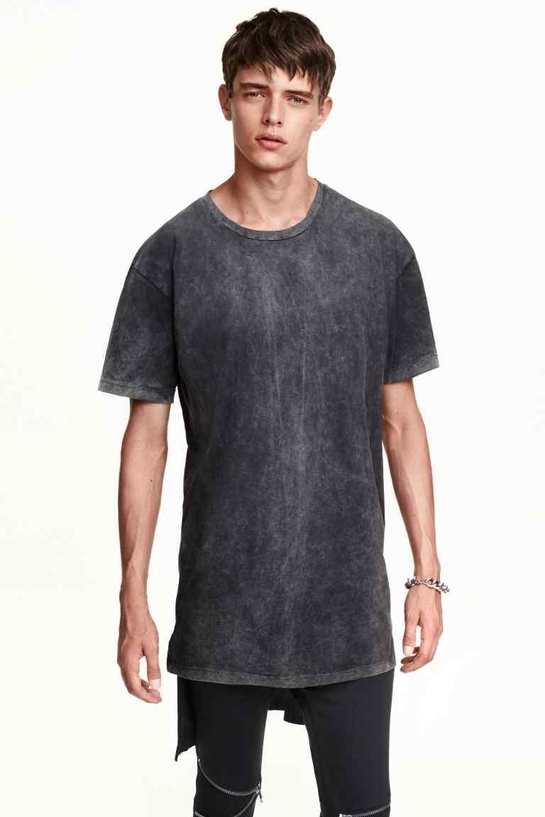 2016 New Design Acid Wash T Shirts Wholesale Fashion Long Tail T ...