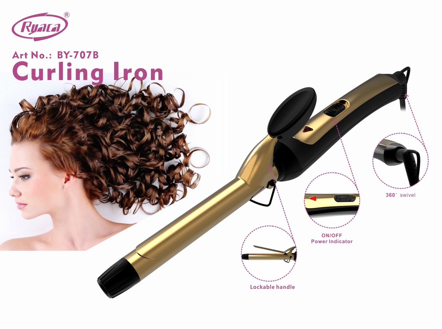 Diameter Optional Sizes Portable Hair Curling Wand - Buy Hair Curling  Wand,Hair Curlers Rollers,Hair Curling Iron Product on Alibaba com