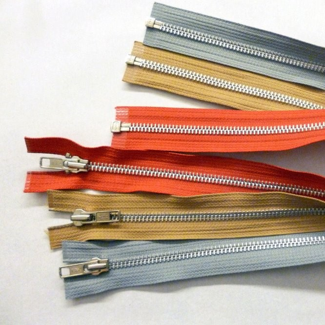All sorts of color and length Open End, Metal silver Zippers --- 3# 4# 5# 8# 10# --- stand up zipper bag / zipper wallet