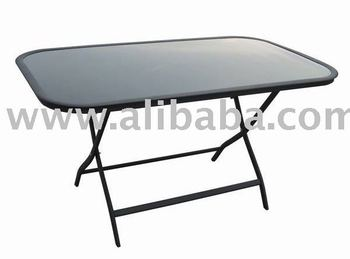 Outdoor Garden Furniture Aluminum Folding Gl Dining Patio Table
