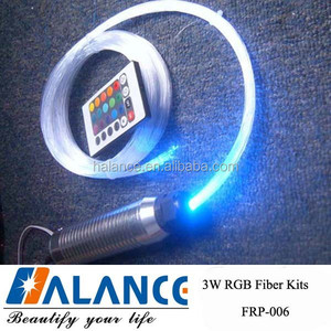 3W 200 strands RGB LED Fiber optic lighting kit for Car Roof celing