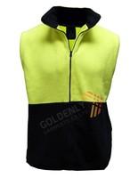 MEN'S Hi-Vi poloar fleece dafety wear vest