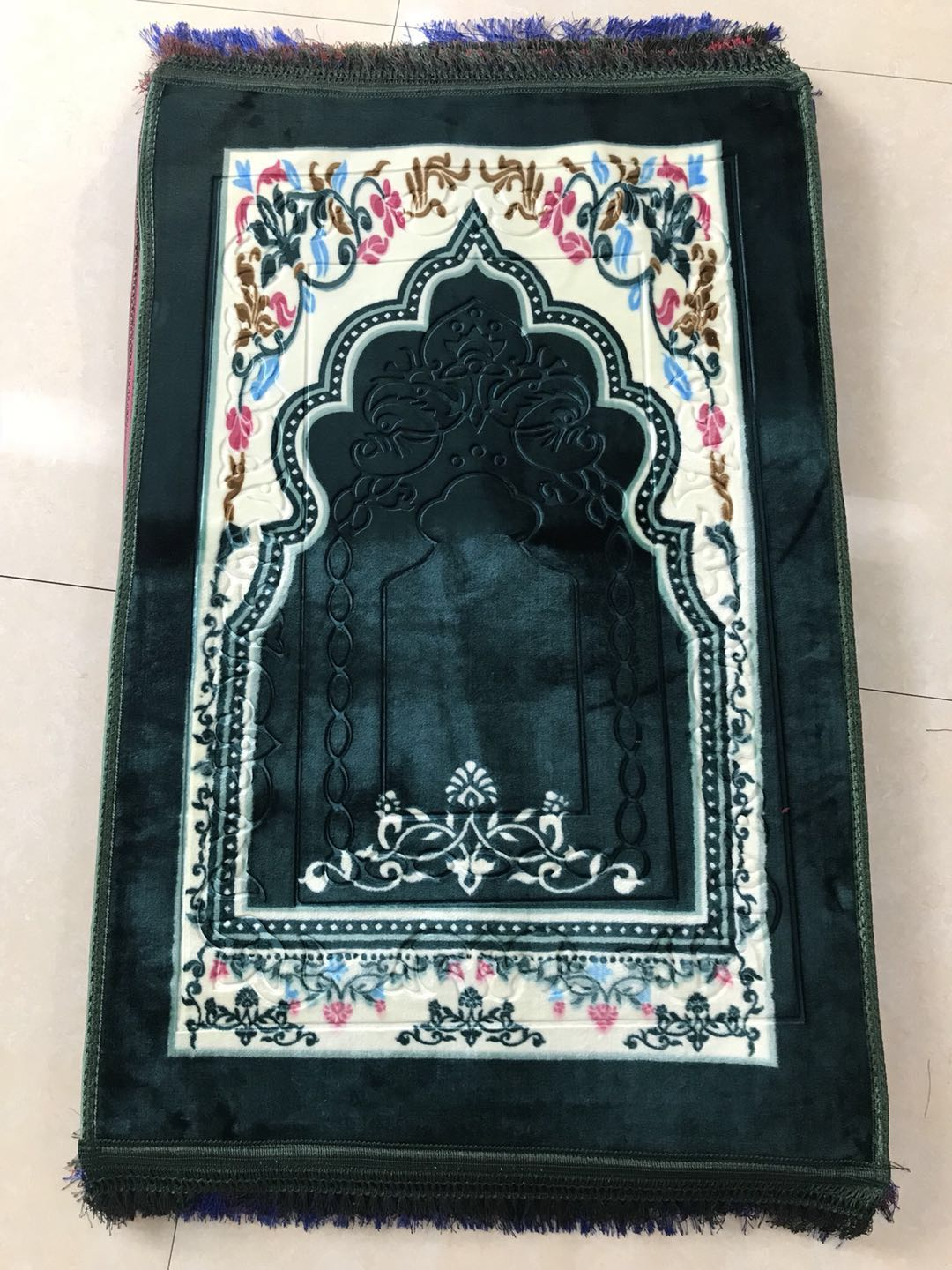 good quality 2018 fashion thick cotton filling muslim prayer mat