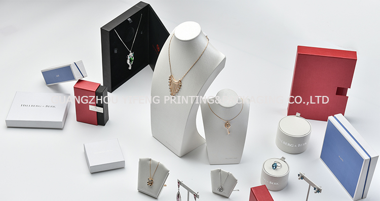 Wholesale China factory fancy jewelry box packaging luxurious gift box printed own brand logo custom ring jewelry box