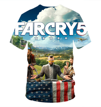 Nieuwe Mode T-shirt Mannen T-shirt Grappig Spel Far Cry 5 3D Print Hiphop Fitness Tshirt Unisex Tee Tops Merk Kleding <span class=keywords><strong>Camisetas</strong></span>