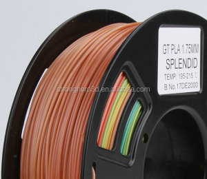 Stronghero3D 3d printer filaments pla 1.75mm rainbow splendid filament Amazon Hot selling
