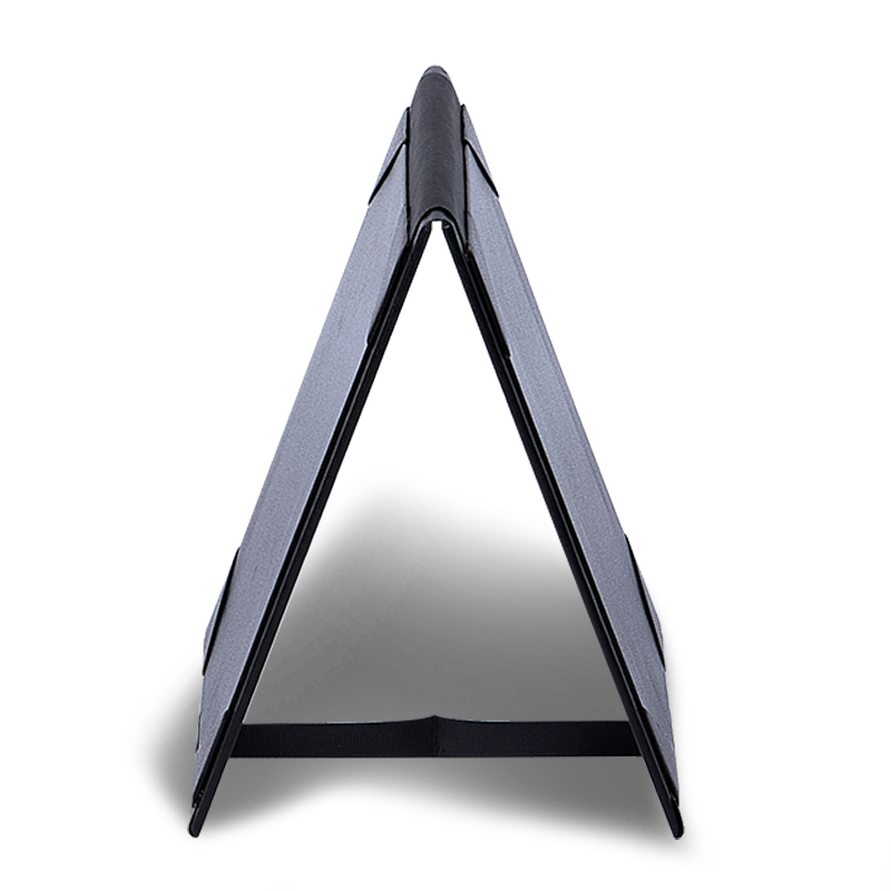 restaurant stand style black leathertte paper table tent menu holder