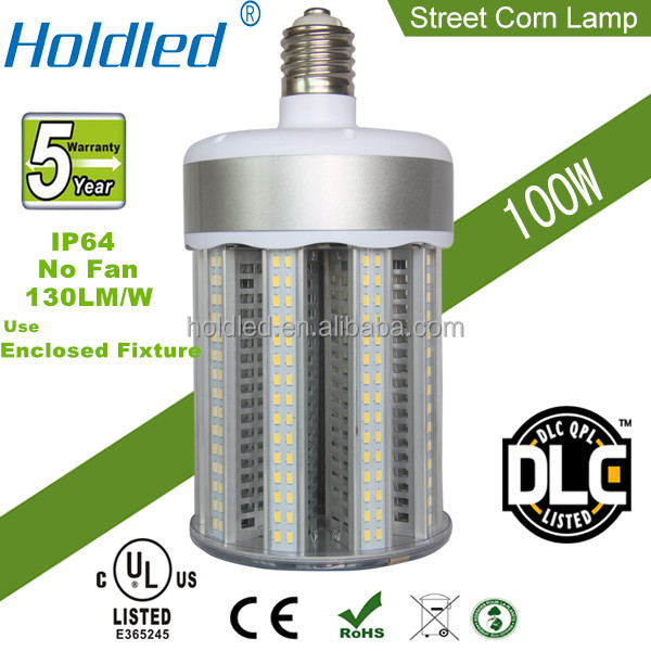 Patened UL DLC 150W Retrofit led street Corn lighting ensure 5 years warranty