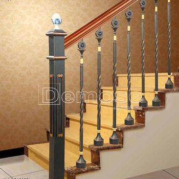 De hierro forjado de barandas para escaleras de madera - Escaleras de hierro forjado ...
