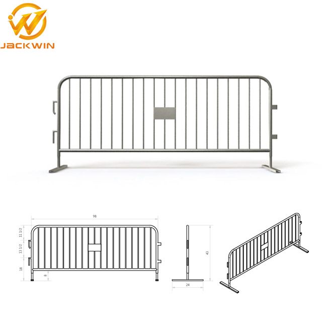 Factory Price Galvanized Temporary Fence Barrier Metal Iron Crowd Control Barrier