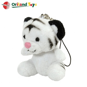 Promotional with cheapest price for high quality plush tiger keychain