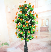 artificial tree Artificial orange tree Courtyard area, the hotel is beautiful