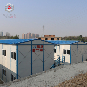 Customized single slope roof sandwich panel prefab house finland flat-pack prefabricated house germany