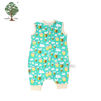 Muslin tree sleeveless animal baby clothes romper 100% cotton romper