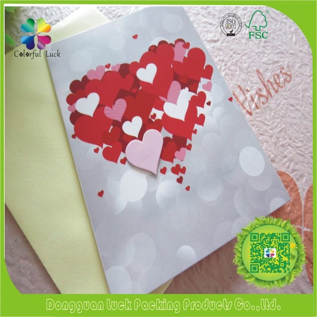 China standard greeting card wholesale alibaba heart shape handmade standard size hardwork paper art greeting cards m4hsunfo
