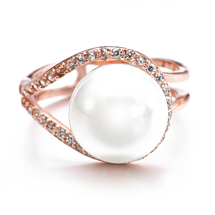 Cheap & Hot Selling Promotion fresh water pearl jewelry ring for women