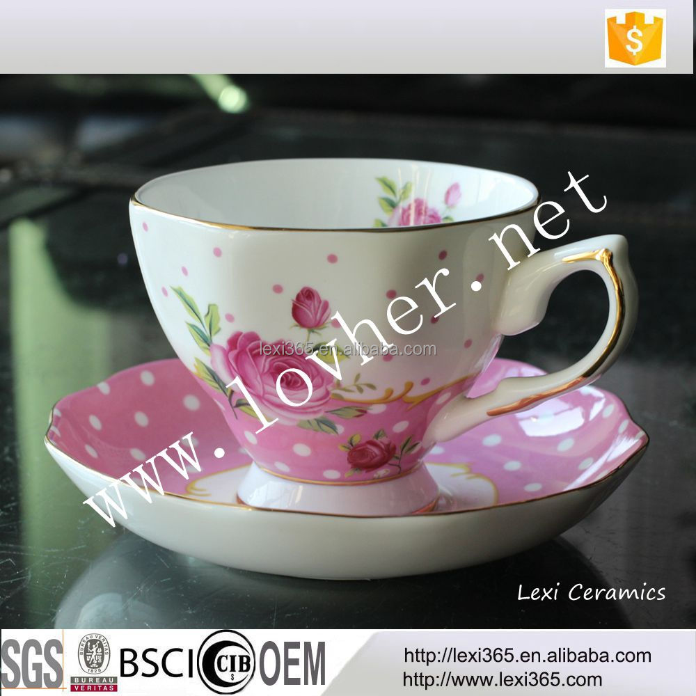 Best Sale Creative Vintage Bone China Porcelain Coffee Tea Cup With Saucer For Home