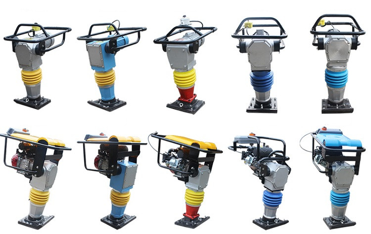 Gasoline engine vibrator tamping rammer concrete tamping rammer for sale