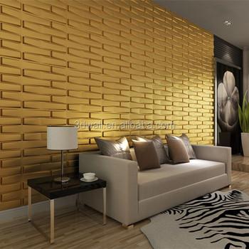Pvc Material Brick Design 3d Texture Wall Panel For Restaurant ...