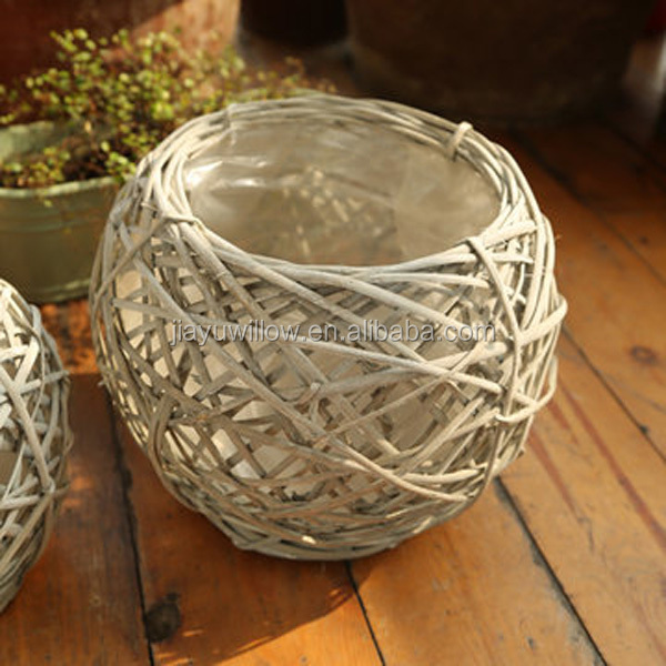 animal plant pot wicker baskets for plants wicker plant pots
