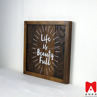 China manufacture, Square Wood Wall Deplay vase picture frame art and craft souvenir gift wood frame