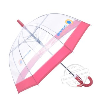 fashion straight transparent bubble poe umbrella