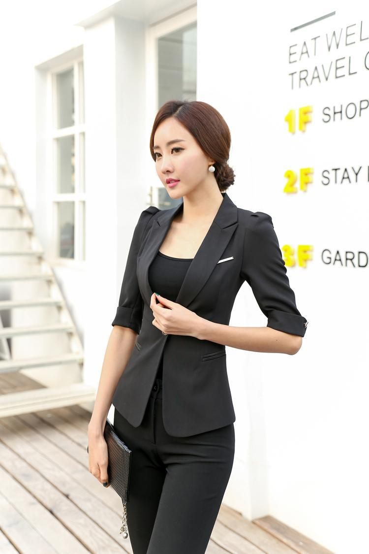 Fashionable Business Wear Pant Suits Summer Office Lady Pants Set  Suits Formal Women Career Pant Suits Blazer and Pant Sets