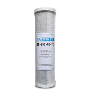 CE 10 inch cto water filter cartridge in water treatment