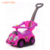 Plastic material LOGO OEM custom kids toy ride on cars with push handle