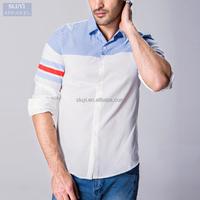 High Quality new fashion cotton long sleeve turn-down collar formal dress shirt for men single breasted mens dress shirt in bulk