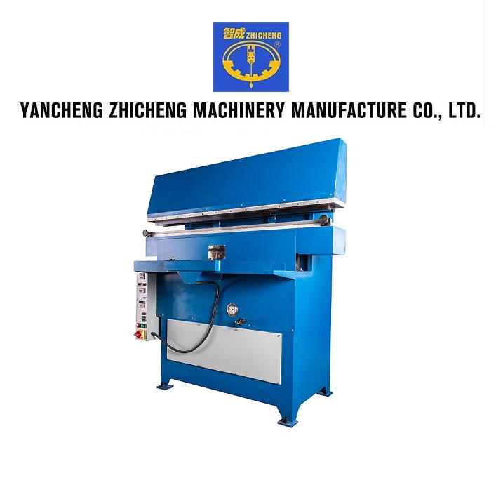 Hydraulic automatic embossing machine for leather belt