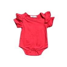 <span class=keywords><strong>Peuter</strong></span> Meisjes Soild Kleur Katoen <span class=keywords><strong>Romper</strong></span> Flutter Mouw <span class=keywords><strong>Romper</strong></span> Baby Lage MOQ Boutique Meisje Rompertjes Groothandel 2018
