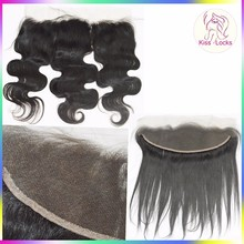 Peerless Virgin Hair Company 9A Brazilian Human 100 Unprocessed Raw13x4 Bleached Knots Free Part Ear To Ear Lace Frontal Closure