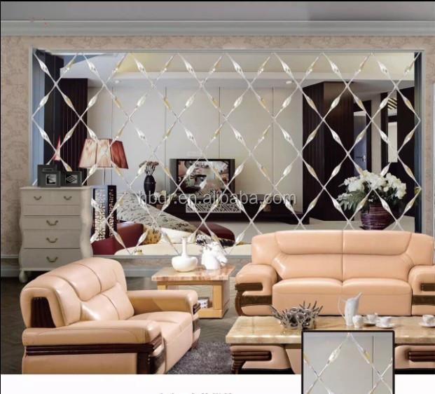 Rhombus Spell Glass Mirrors For Living Room Dining Room Tv