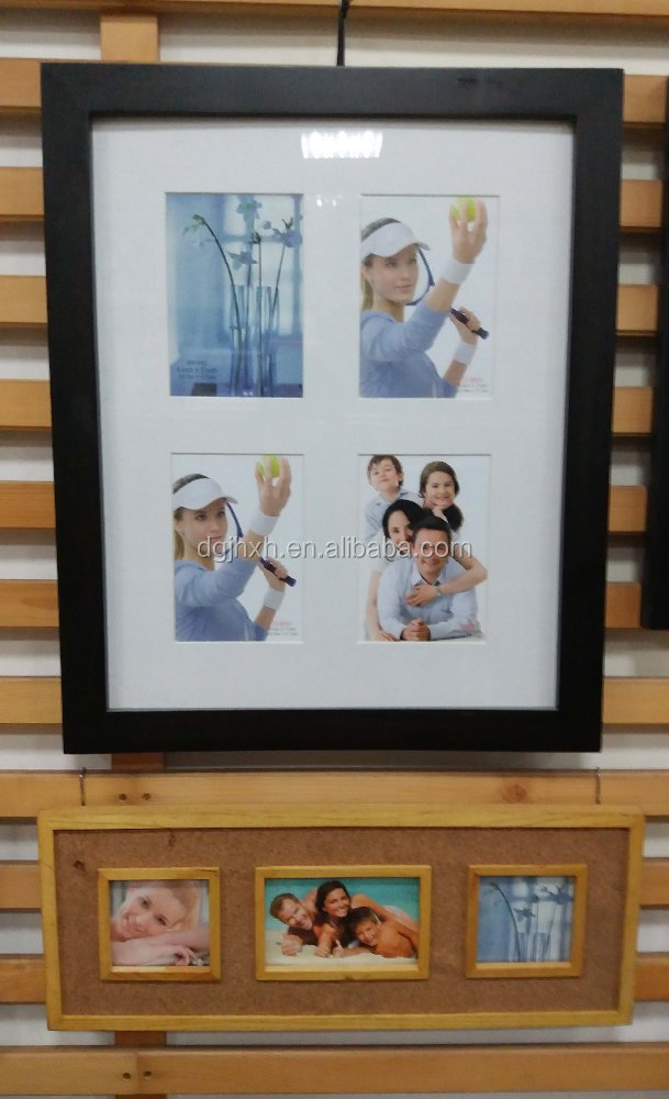 Black modern wooden family photo frame