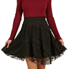 Ladies Elegant Black Short Lace Crochet Mini Skirt