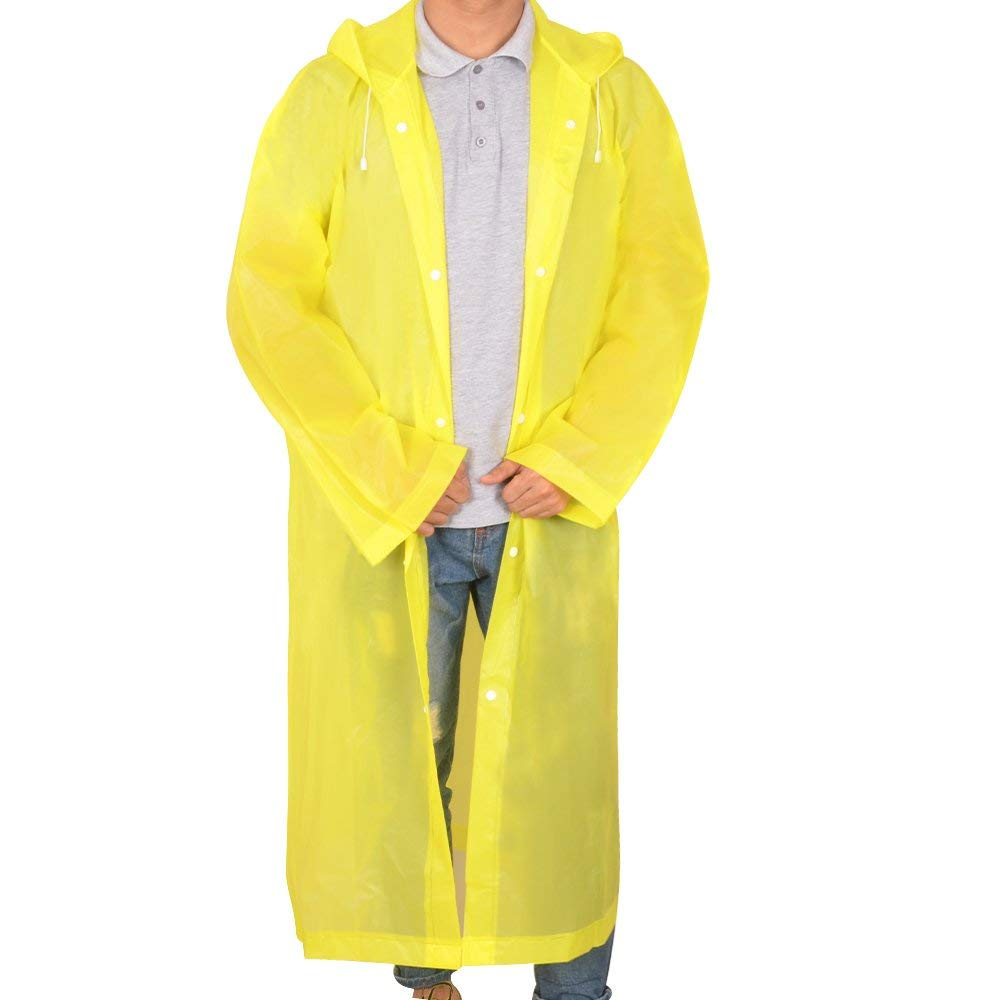 Alotpower Emergency Rain Poncho with Hood and Sleeves for Theme Parks, Trip, Camping or School Events